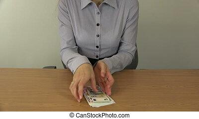 business woman money