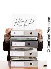 business woman needs help.