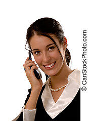 Business woman on a mobile phone
