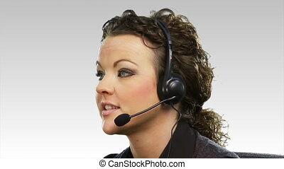 Business woman on Helpdesk 2 - Business woman on Helpdesk hd...