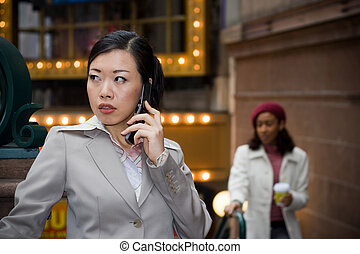 Business Woman On Her Phone