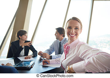 business woman on meeting