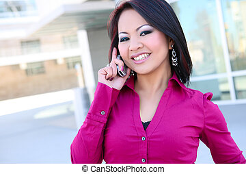 Business Woman on Phone