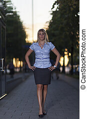 business woman outdoor