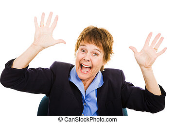 Business Woman - Panic