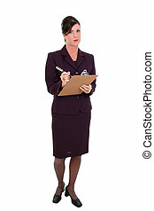 Business Woman Pen - Beautiful Businesswoman Taking Notes. ...