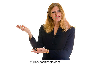 Business Woman Pointing 1
