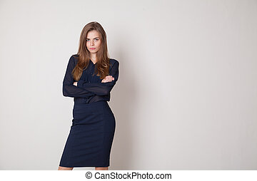 business woman portrait of hands folded
