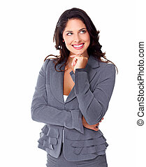 Business woman. - Portrait of smiling young business woman ...