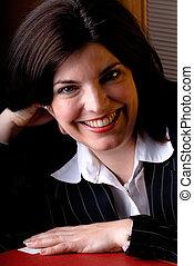 Business Woman Portrait - Young Attractive Brunette ...