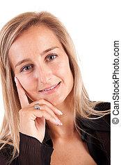 business woman posing