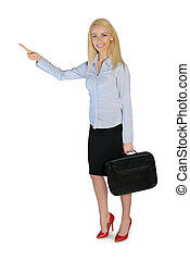 Business woman presenting