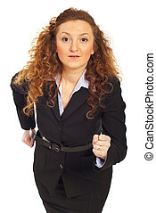 Business woman ready to start competition