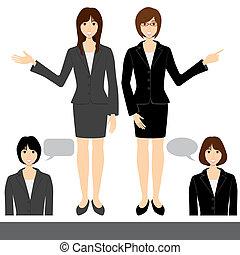 Business woman set