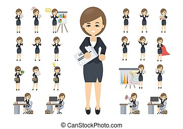 Business woman set.