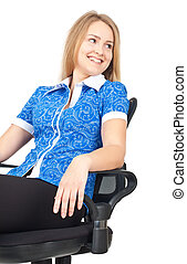 Business woman sitting in chair