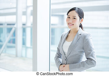 business woman smile in office