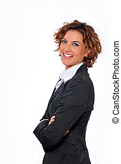 Business Woman Smiling with Arms Folded