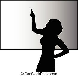 Business woman speaker or teacher