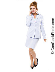 Business woman  speaking on her cell phone