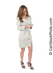 Business Woman Using PDA 5 - Attractive business woman using...
