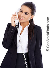 Business woman using phone
