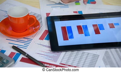 Business Woman Using Touchpad