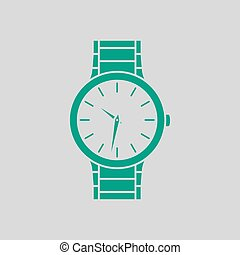 Business Woman Watch Icon