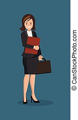Business woman with a briefcase.