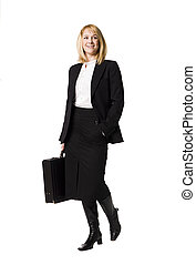 Business-woman with a briefcase
