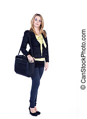 Business woman with bag