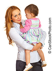 Business woman with child
