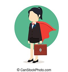 business woman with cloak