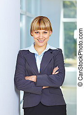 Business woman with folded hands