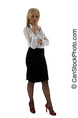Business Woman with glasses - An attractive young business...