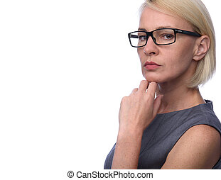 business woman with glasses - Portrait of a business woman...