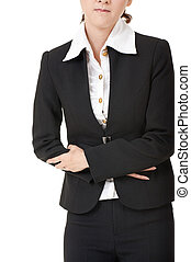 Business woman with stomach