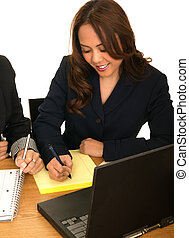 Business Woman Writing Business Plan