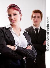 business women do the hard work