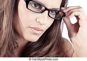business women in glasses