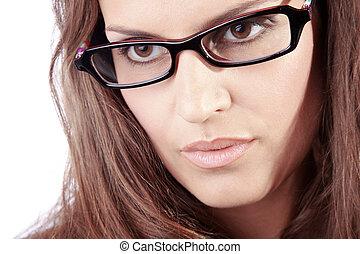 business women in glasses