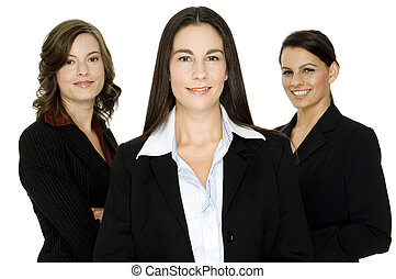 Business Women - Three attractive well-dressed businesswomen...