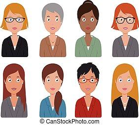 Business women. Vector illustration