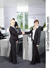 Business Women with Handshake