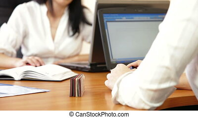Business Women Working On Laptop