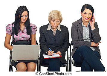 Business women working