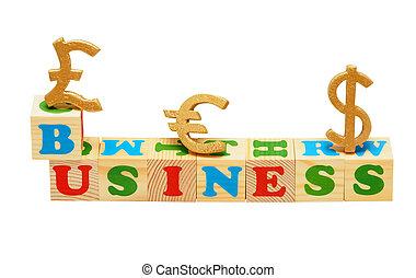 Business Wooden Blocks