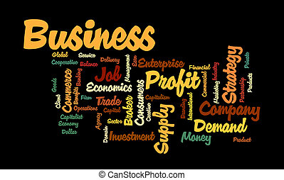Business Word cloud - Collage/tag cloud illustrating the...