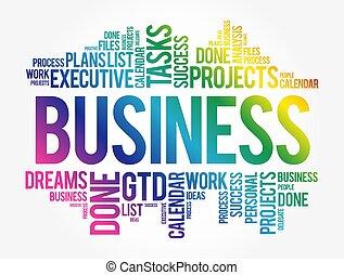 Business word cloud concept