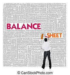 Business word cloud for business and finance concept, Balance sheet